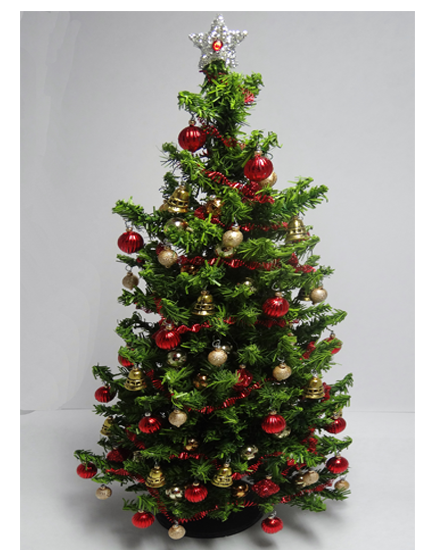 Luxury 8.5 inch Red and Gold Dollshouse Christmas Tree